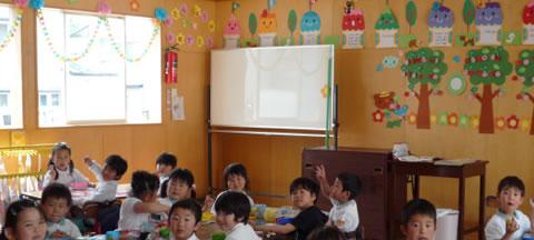 明るいお部屋です 大崎市木の実幼稚園